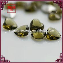 Heart cut plate back crystal gems