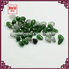 quartz faceted teardrop beads colored transparent beads