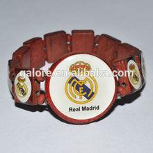custom made football team wood watch style tile bracelet