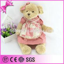 Best gift for child velvet plush skirt teddy bear made in China