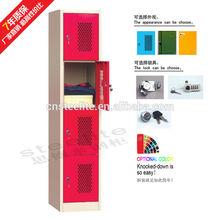 STEELITE Steel Wardrobe Lockers 4 Compartment Steel Locker