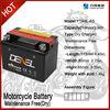 Best selling 12v dry battery for motorcycles dry battery 12v 4ah