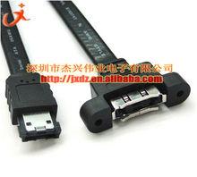 ESATA hard disk to disk ESATA female transfer line lock panel with shield 50cm