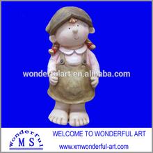 magnesia lovely girl figure for garden decor