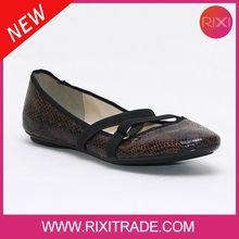 Low price Shiny flat women causal ladies fancy ballerina shoes