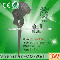 3w AC85-265V/12V ultra bright spike tree spot new led pole garden light