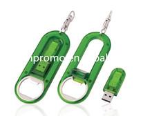 Cheap Plastic Giftl bottle opener usb flash drive Keychain