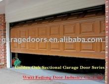 Golden Oak Color Garage Door --- European Union CE & ISO Certificate