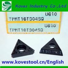 carbide tips cnc original milling inserts Mitsubishi TPMT 16T304 SQ U610