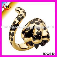 SAUDI FANCY GOLD JEWELRY PANTHER RING DESINGS FOE MEN R002349