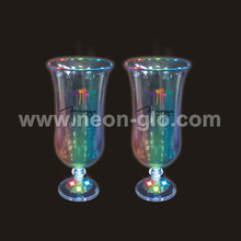 460ml Multi-color Flashing Hurricane Glass,3xAG13 Batteries Included