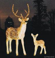 diversified in packaging solar deer lights for garden