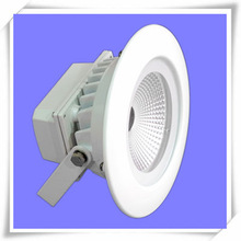 White Outdoor Rechargeable 10W/15W Round LED Diffused Lighting Emergency Light Housing