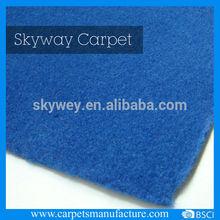 Non woven polyester velour cheap carpet installation