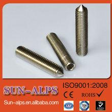 DIN914/DIN916 high-strength Hex socket cup point set screw,cone point set screw,flat point bronze set screw