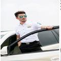 الجملة قميص موحد 2014 100% الطيران القطن الأبيض قميص التجريبية