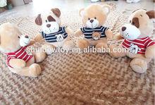 hot selling Plush teddy bear stuffed T shirt bear plush T shirt dog