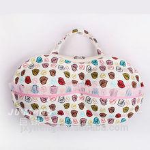 china alibaba eva hard lingerie bra travel print fabric handbags organizer case bag in bag