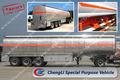 Tanque de combustible semi remolque, la gasolina o el diesel acoplado el transporte, 30000~50000l