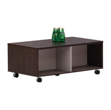 HX-MZ891 small wooden movable coffee table / chest style wooden teapoy