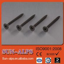 Best Quality Phillips self tapping gypsum board screw black bugle head,fine/coarse,C1022,screw for plasterboard