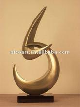 Modern handicraft perfect golden art sculpture ,handicraft exporter