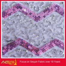 Lluvia de la gota de lentejuelas tafetán tela de venta al por mayor de China fabricante decorativo hacha