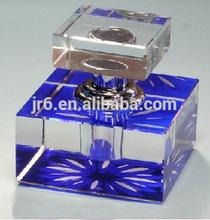 Personalized Customized Crystal Perfume Bottle Glass Blue Perfume Bottle Customize Crystal Gifts