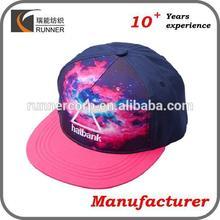 5 panel oem sublimation custom printed hats