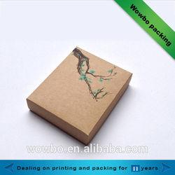 Custom design brown kraft paper box/New style gift packaging, kraft paper box, folding paper box