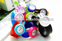 2014 Lovely Children's Bendable Plastic Strap Kids Slap Watch
