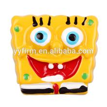 W0404157 DIY Resin Craft 32*23mm Cartoon SpongeBob Cabochon Flatback Resin Decoden Cabochon DIY Making