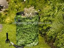 Pop-Up Garden Bin Leaf Pattern 180L Garden Bag,Garden Waste Bag Holders