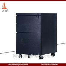 móvil de alta calidad del cajón 3 mueblesdeoficina de acero vertical de metal del gabinete de archivo en azul oscuro