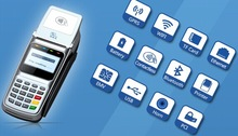 GPRS pos read magnetic,IC,contactless card with free SDK