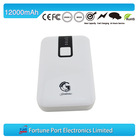 New model fashion mobile phone emergency battery charger charge laptop battery without charger 12000mah