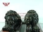 Quyang jinkun carving L:190CM brass sleeping lion sculpture