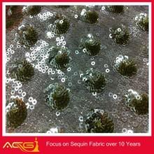 Paillettes tessuti micro a goccia penzolare 100% poliestere china wholesale produttore decorativi a ferro di cavallo