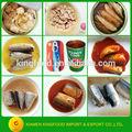 Conservas de pescado sardina en conserva en aceite/salsa de tomate/salmuera