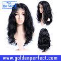 quente popular 5a grau curly brasileira cheia do laço perucas de cabelo humano deimportação