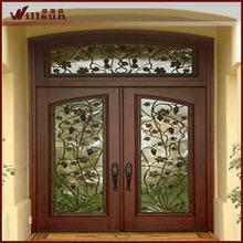 double panel doors design wrought iron and glass door cheap price