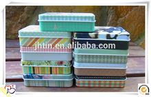 Christmas decorative fashion pattern small rectangular personalized tin box/fashion mint box for sale