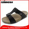 con estilo de baja de la cuña de cuero de la pu gladiator slide sandalias con suela de phylon con colores opcionales