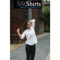 Sscshirts 2014 100% moda casual roupa conjuntos de saia e blusa para senhora