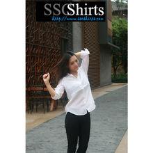 Sscshirts 2014 100% de linho moda Casual fotos de moda blusa