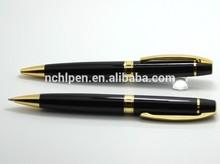 gold chromed trim twist ball pen gift for 2014 christmas day
