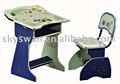 Crianças ajustável de mesa e cadeira 2075 com música