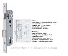 High security standard Aluminum door lock parts