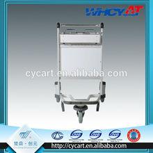 High strength shopping cart with three wheel