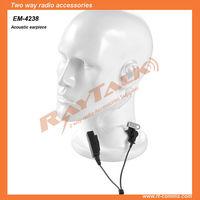Surveillance Radio acoustic tube Headset for two way radios